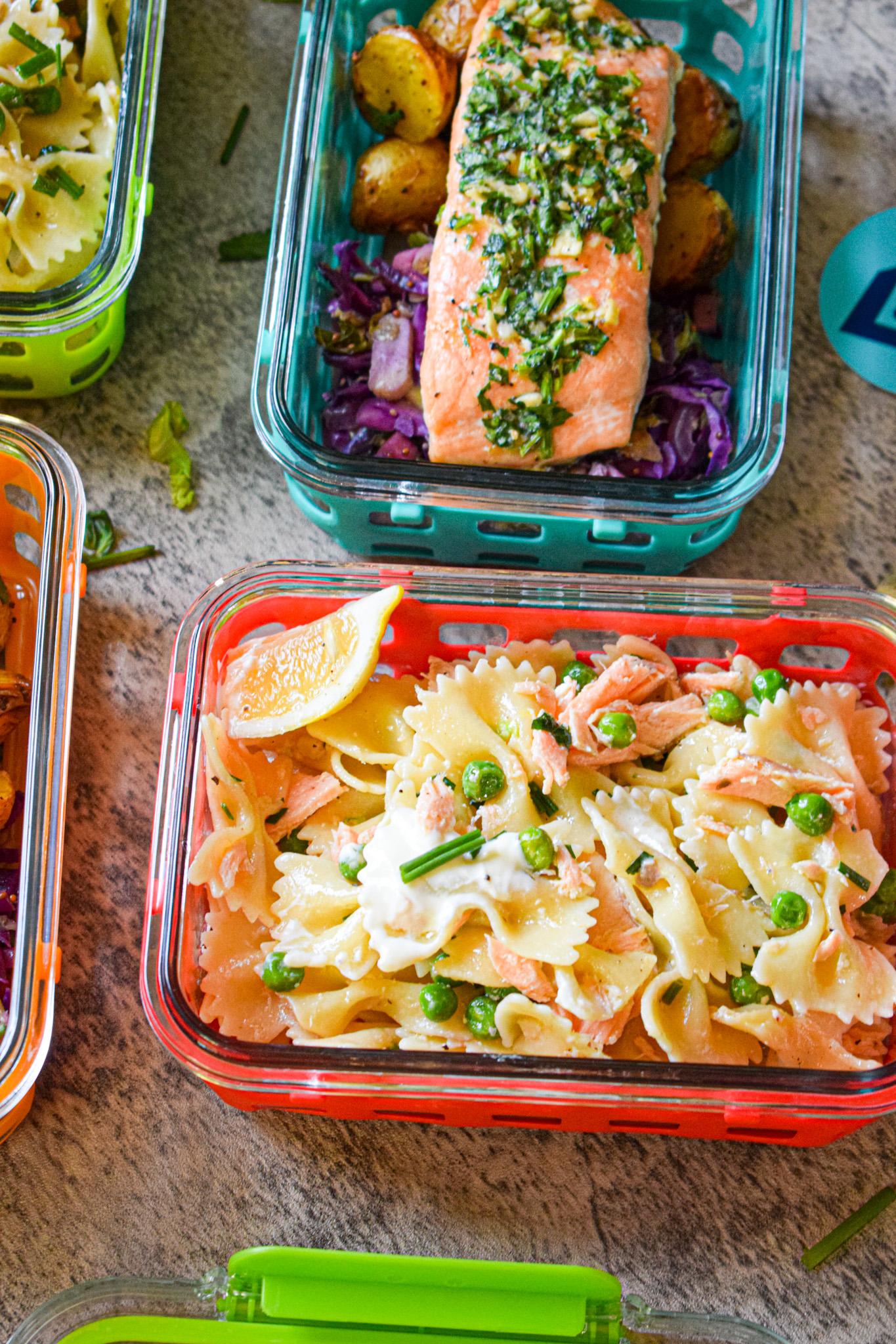 Salmon meal prep ideas salmon creme fraiche pasta