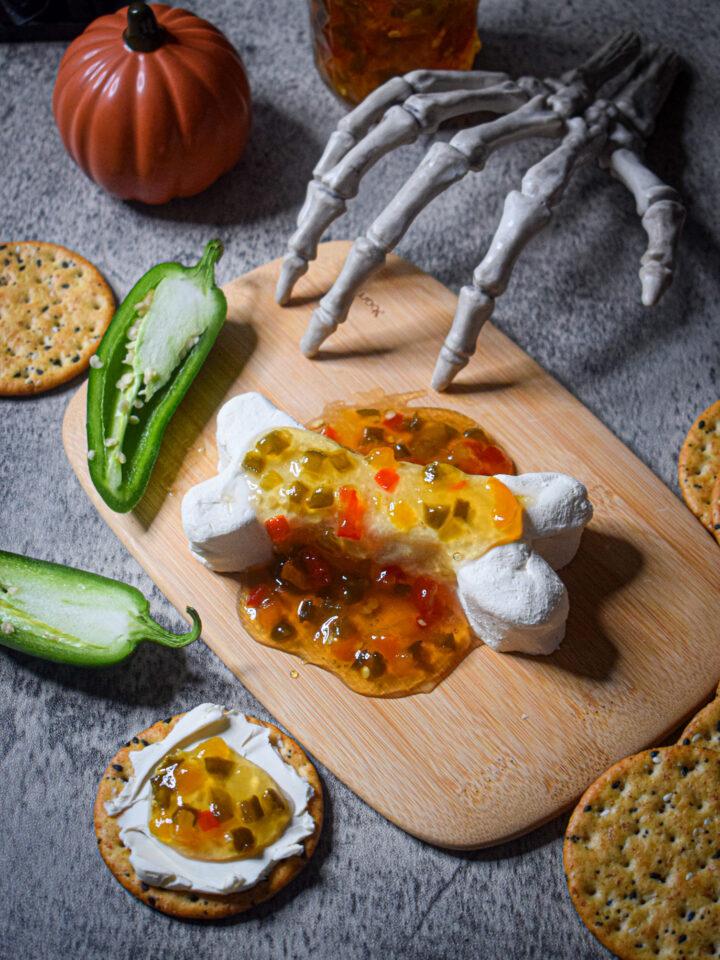 sweet & spicy skeleton bone appetizer halloween recipe