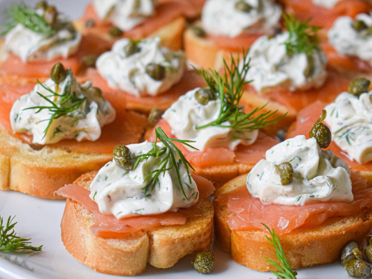 smoked salmon crostini appetizer recipe