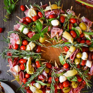 christmas antipasto wreath appetizer recipe